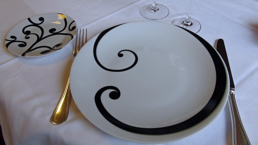 Une assiette du service