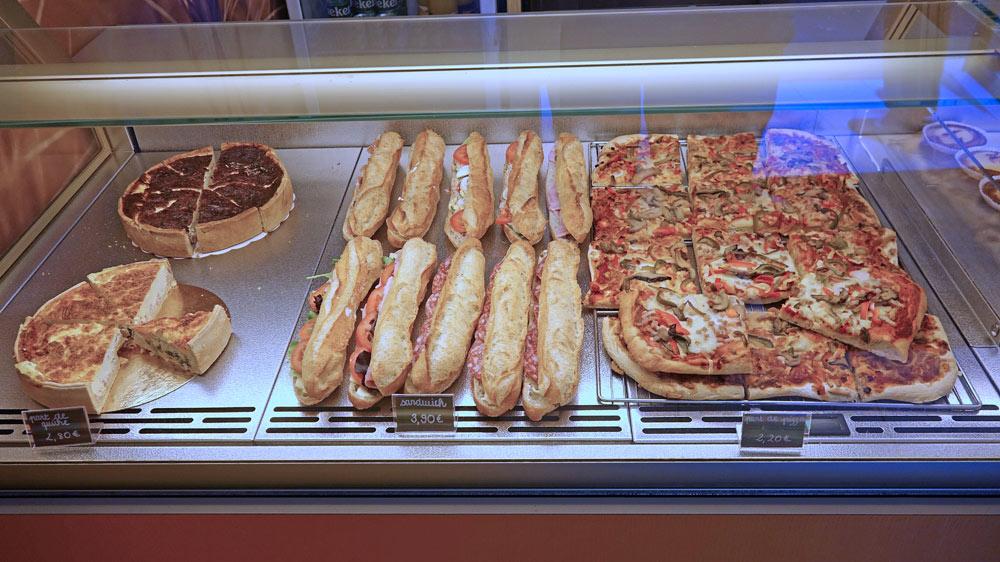 Quiche lorraine, sandwichs et pizzas du 9 octobre 2019