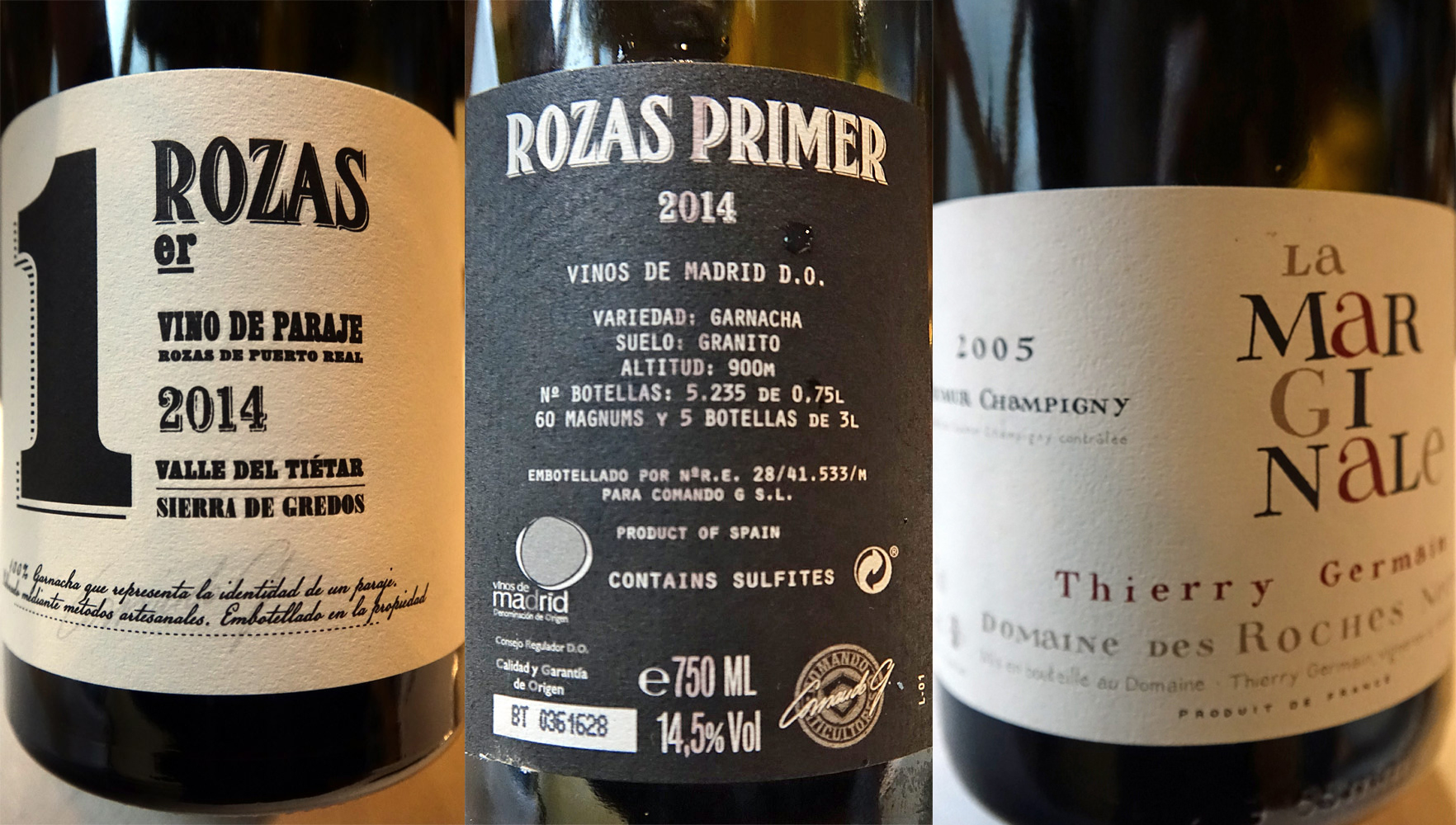 D.O. Vinos de Madrid sur le Cochon - Saumur-Champigny sur la Grouse