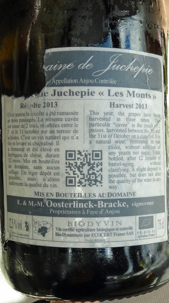 Le vin servi sur les St Jacques et les Langoustines