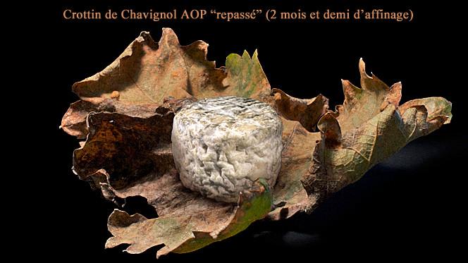 """Crottin de Chavignol fermier """"repassé"""" affiné 2 mois et demi - Crédit photosite www.romaindubois-affineur.com"""