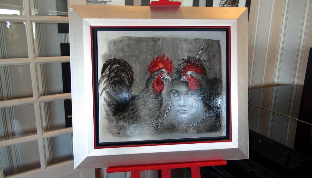 Un tableau de Yo Coquelin (Exposition d'Art du Domaine au Salon Saint-André)