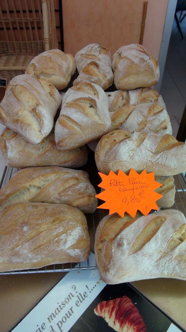 Petits pains de campagne, à priori pas assez cuits