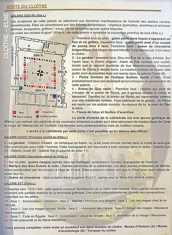 Quelques explications pour la visite du Cloître