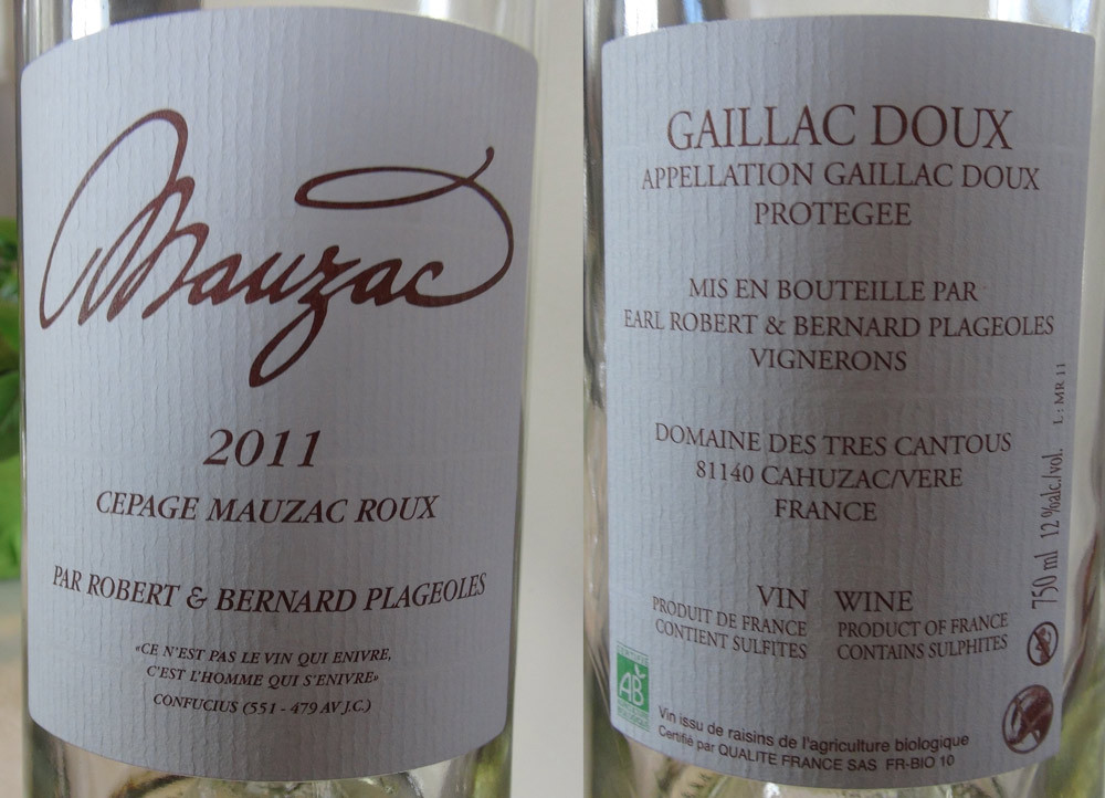 Gaillac 2011 Mauzac roux de Plageoles