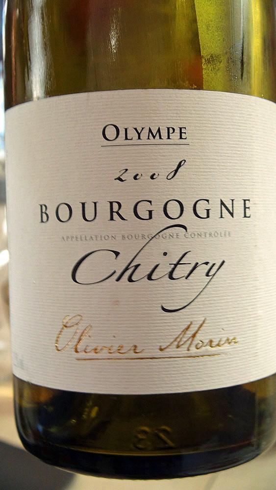 """Bourgogne """"Chitry"""" d'Olivier Morin à 28 € 00"""