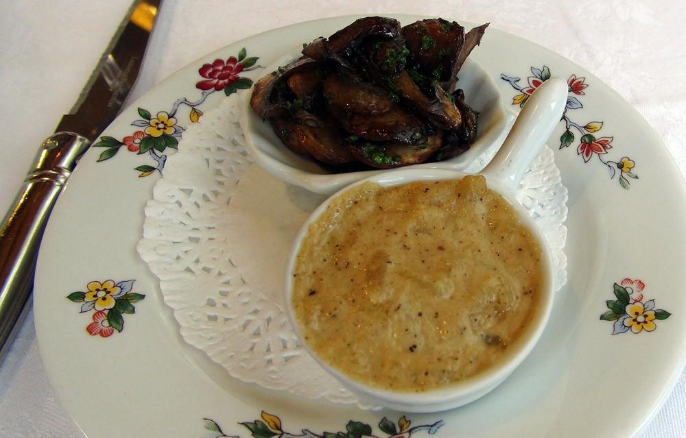Poêlée de champignons & Gratin de pomme de terre