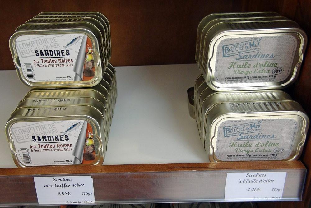 Des sardines aux truffes noires, eh oui, ils ont osé !
