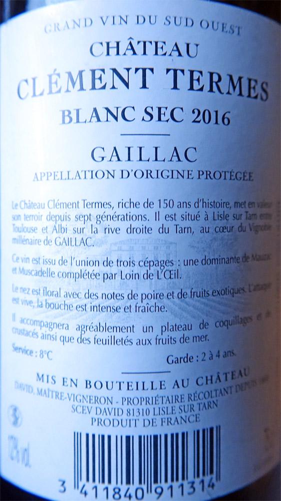 Gaillac blanc 2016