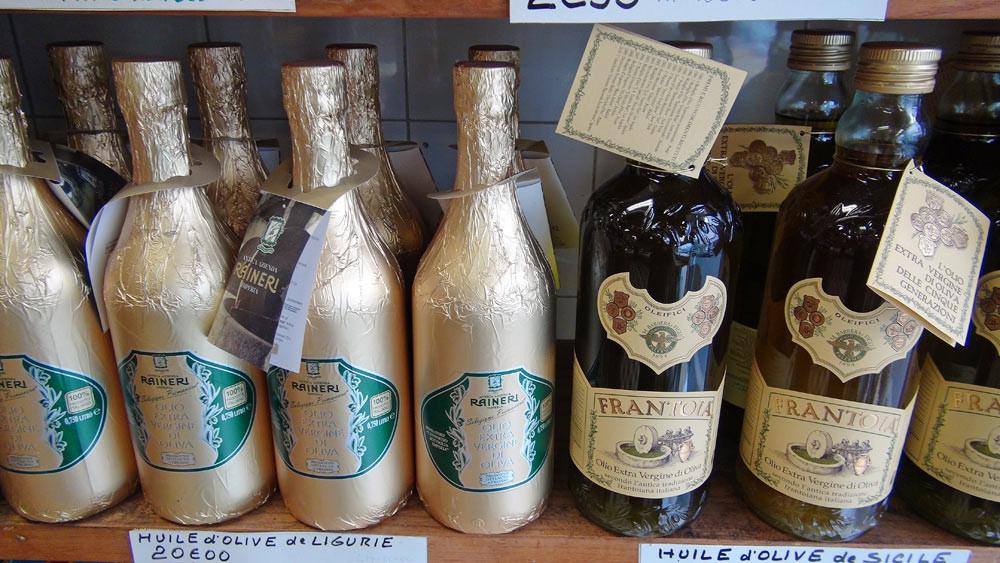 Quelques huiles de Ligurie et de Sicile