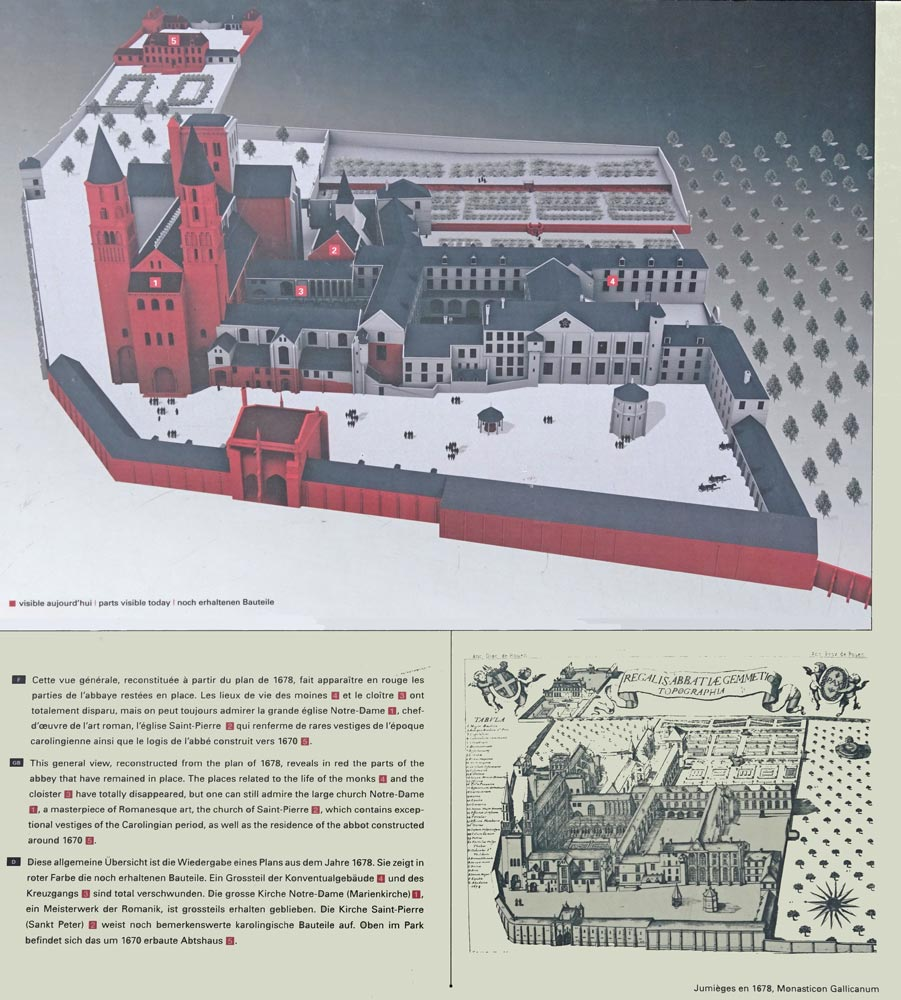 Reconstitution d'après un plan de 1678