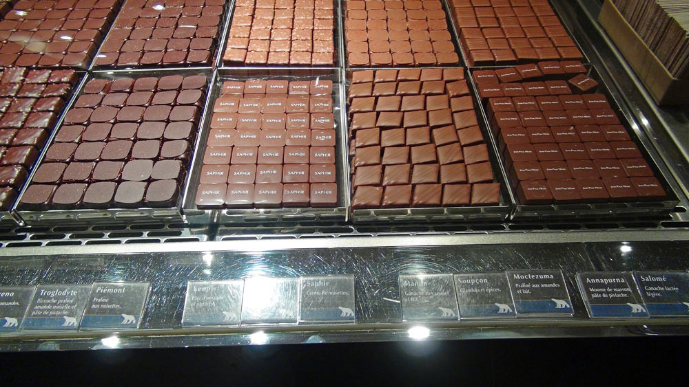 Chocolats (Troglodyte - Piémont - Kéops - Saphir - Manun - Soupçon - Moctezuma - Annapurna - Salomé)