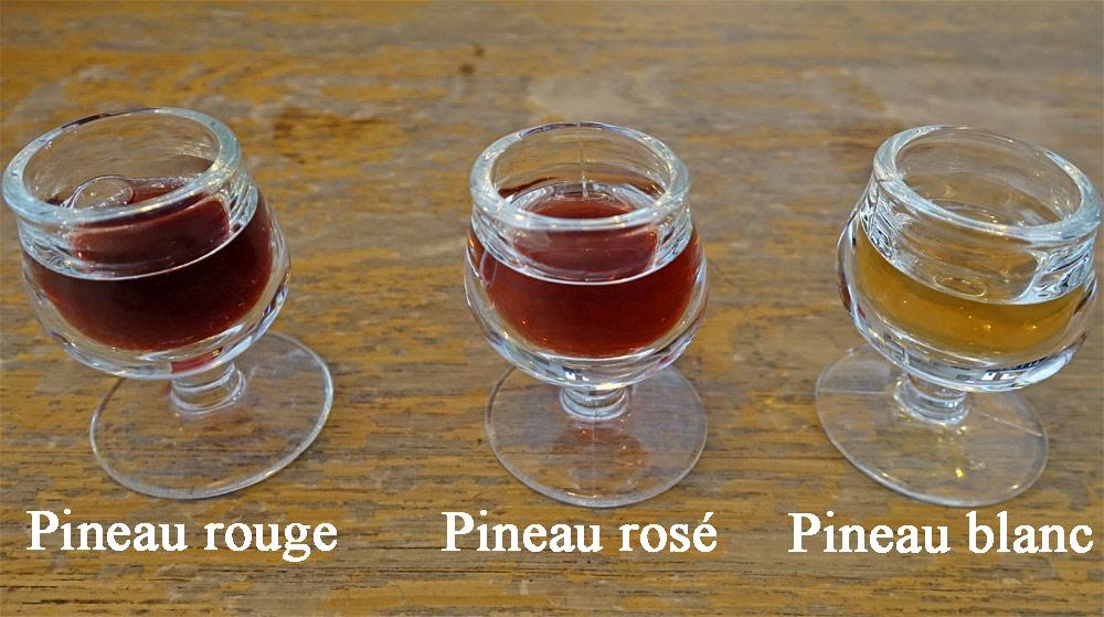 Les 3 Pineaux des Charentes dégustés