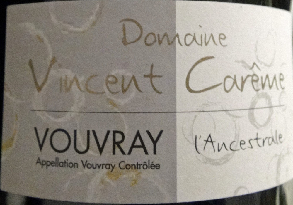 Vouvray MT de Vincent Carême