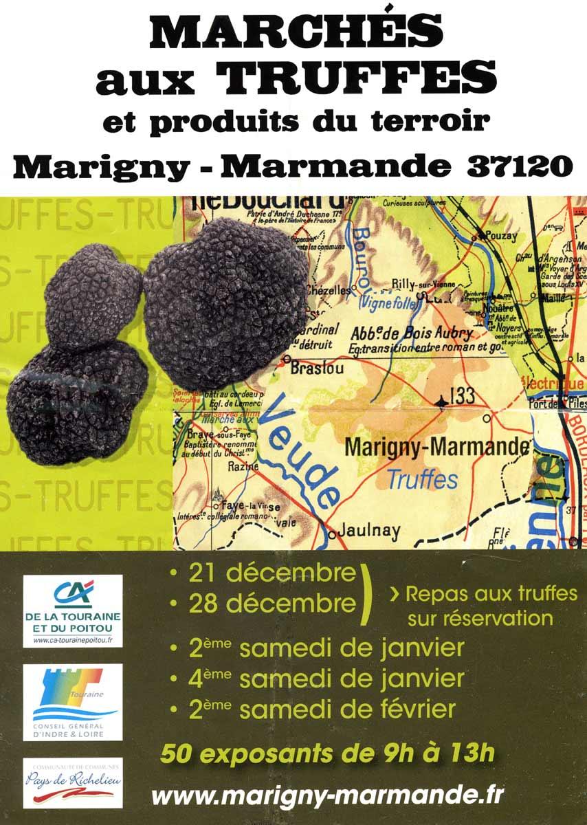 Les dates du marché aux truffes de Marigny-Marmande