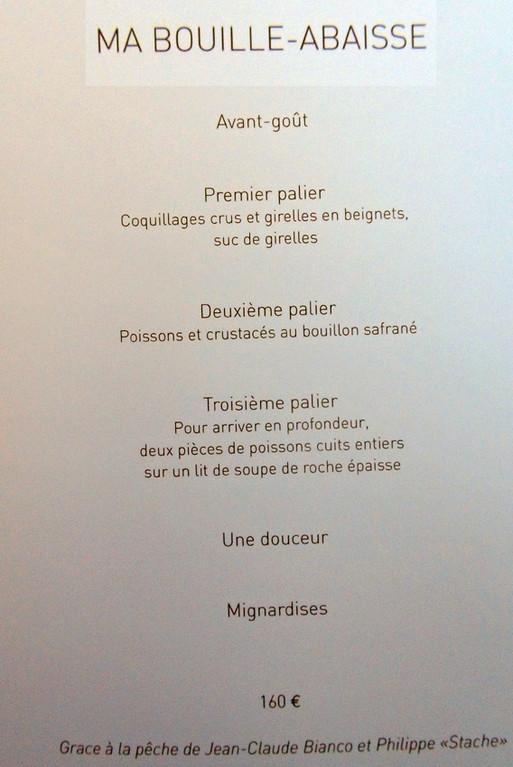 Ma Bouille-abaisse - 160 €