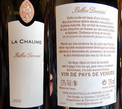 "VDP de Vendée 2006 ""Bellae Domini"""