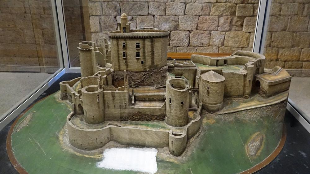 Maquette du château sous un quatrième angle