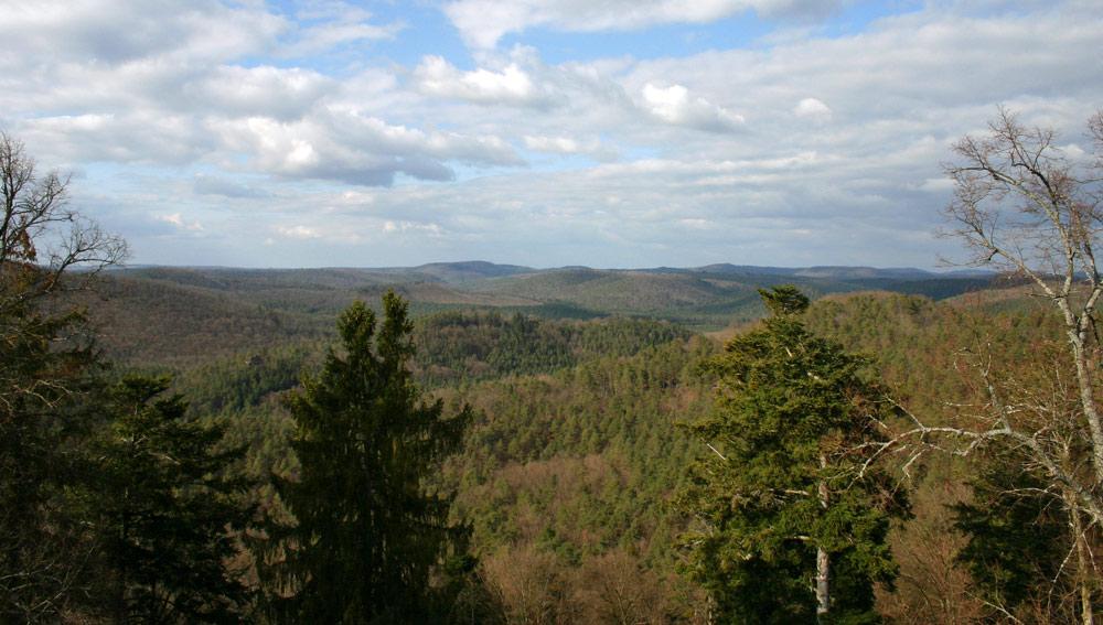 Le château de Fakelstein - Vue sur les alentours