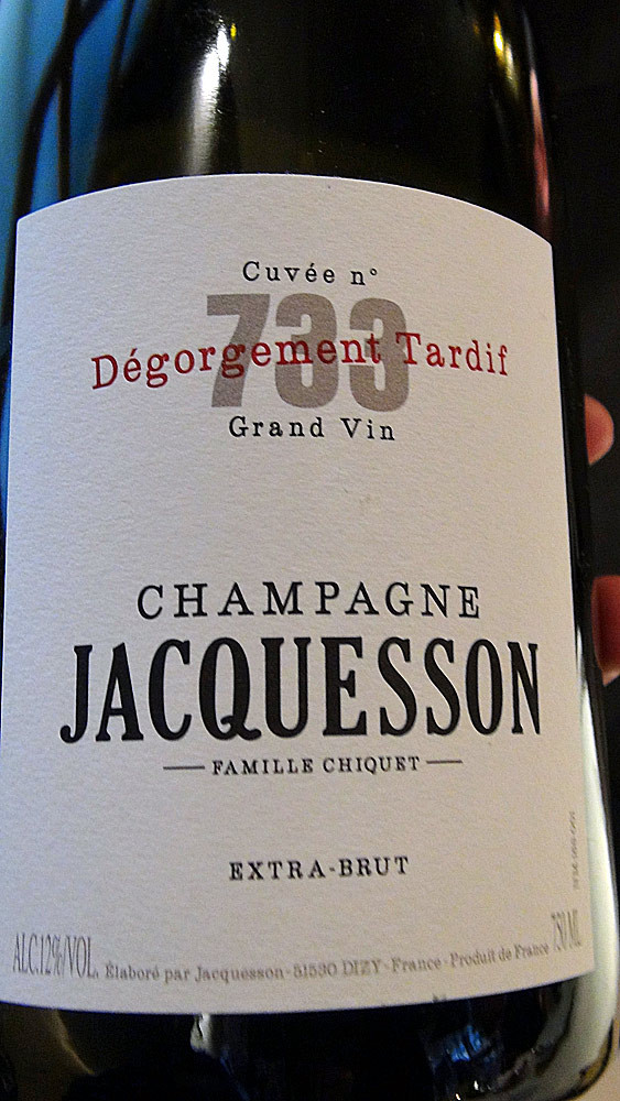Champagne Jacquesson N°733 Dégorgement Tardif