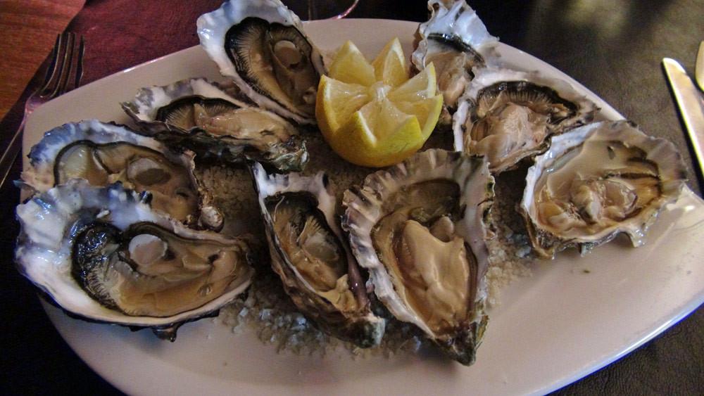 9 huîtres creuses de la rivière d'Etel