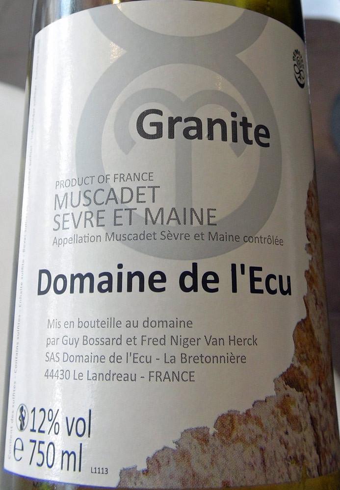 Muscadet Sèvre et Maine 2010 Granite - Domaine de l'Ecu (Bossard & Niger Van Herck)