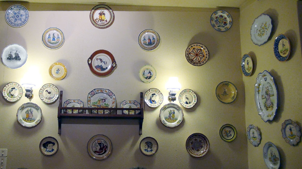 Le décor au mur
