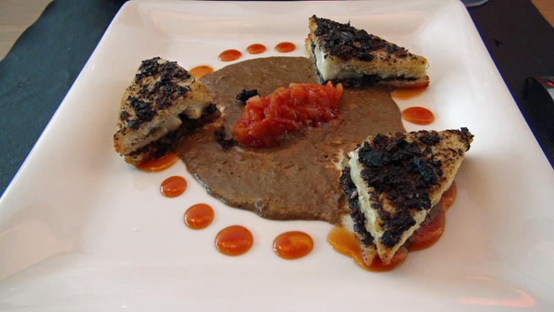 Club sandwich de Saint-Jacques et champignons