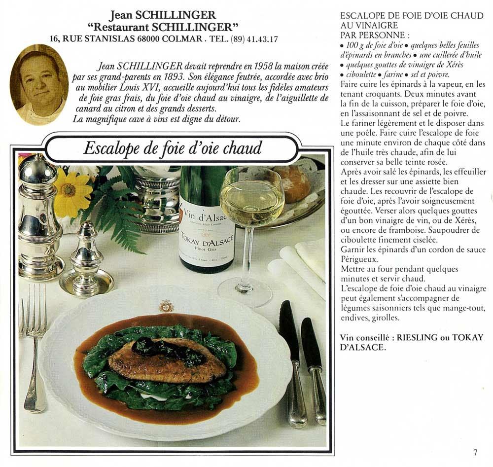 Recette de Jean Schillinger, le père de Jean-Yves