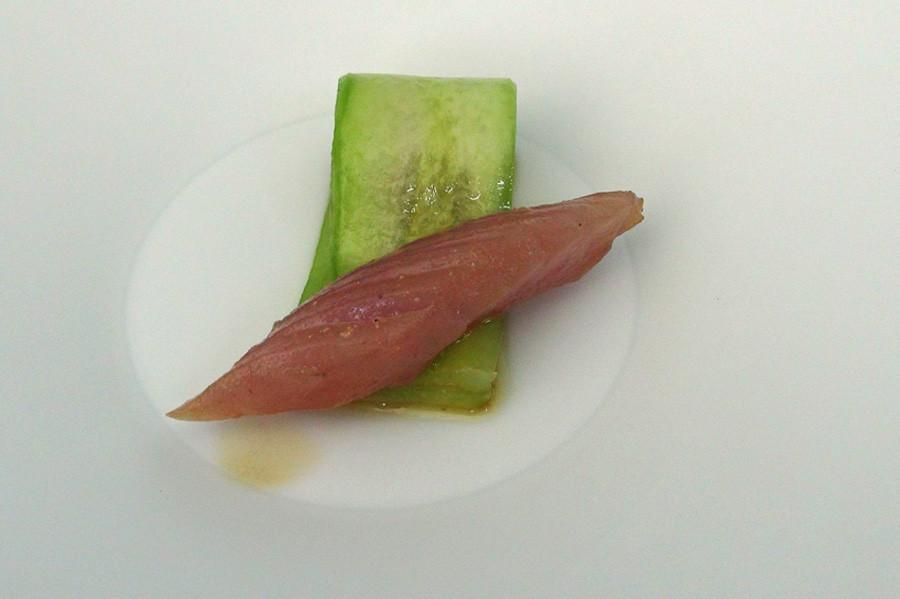 Premier avant-goût : Filet de maquereau & concombre