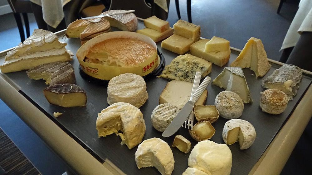 La chariot de fromages