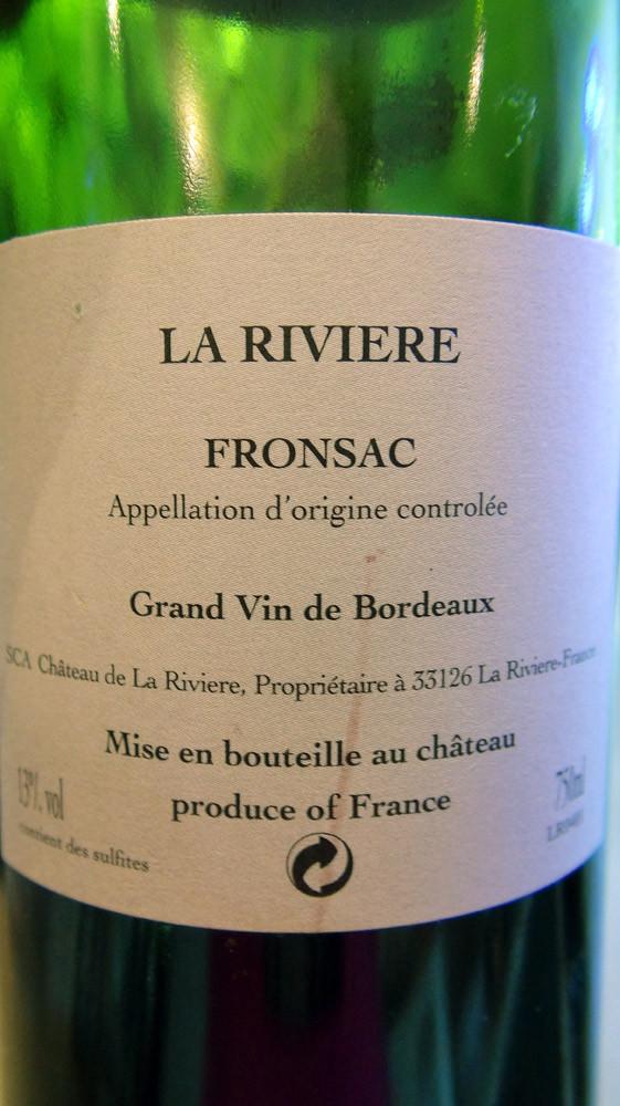 Fronsac 2004 La Rivière