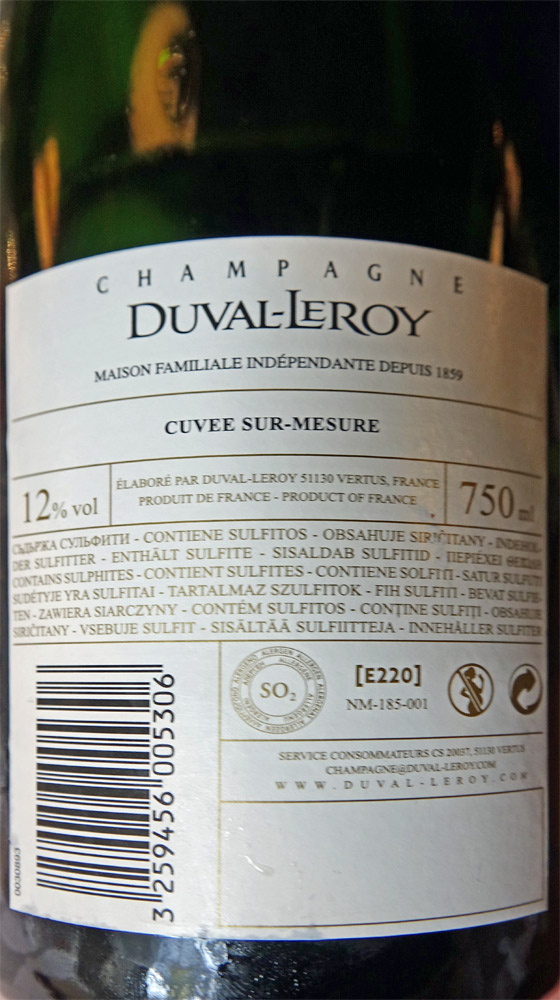 Le Champagne pour l'apéritif (offert)