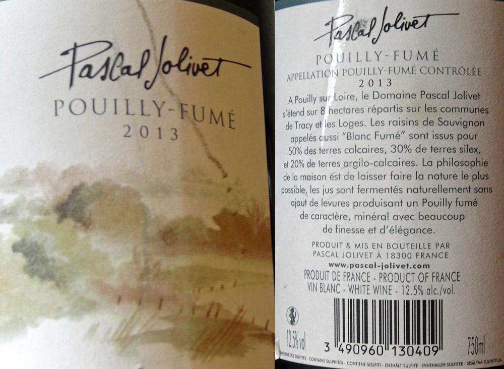 Pouilly-Fumé 2013 Pascal Jolivet