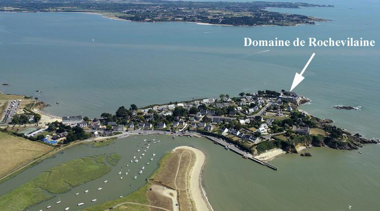 La pointe de Pen-Lan vue du ciel - Crédit photo : Domaine Rochevilaine