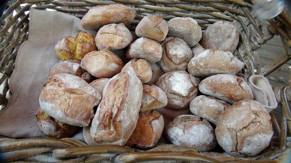 Les fameux pains de la Maison du Pain (Maïs, Tradition et Forestier/noisette )
