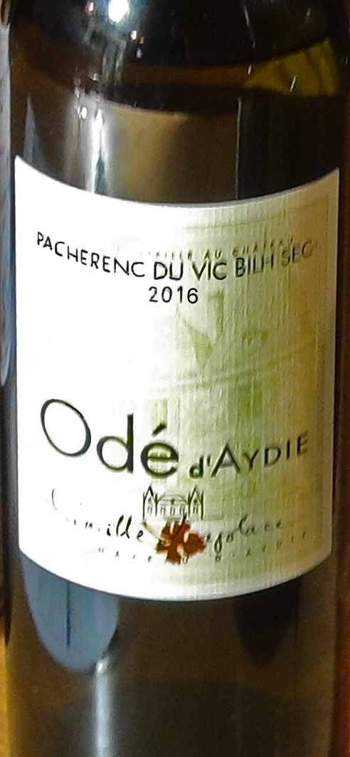 Le vin servi pour les 2 premiers plats