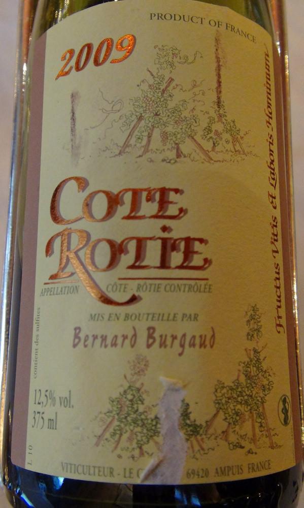 Côte-Rotie 2009 de Bernard Burgaud