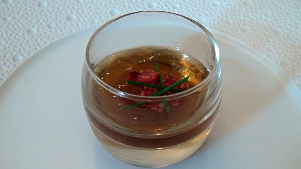 Patience : Petite soupe de champignons et saucisse basque
