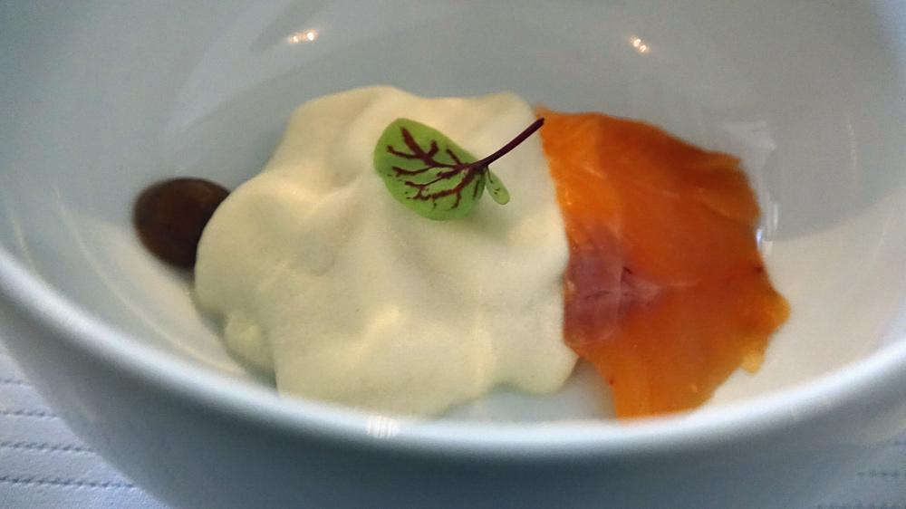 Patience : Mousse de fenouil | tamarin | truite gravlax