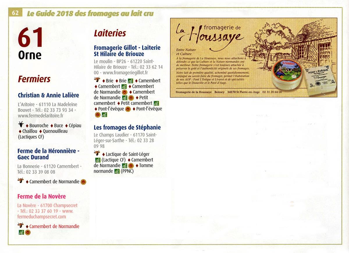 Adresses Orne (Sélection)