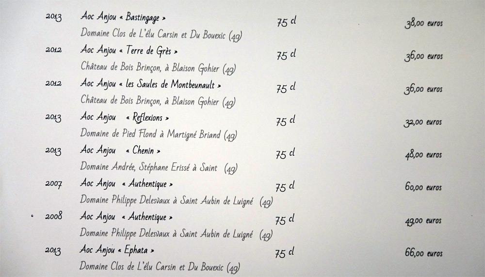 Vins blancs du Val de Loire, suite