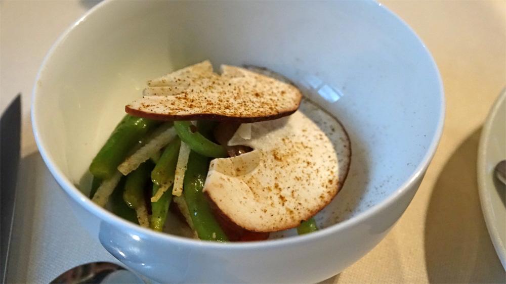 Cèpe et haricots verts