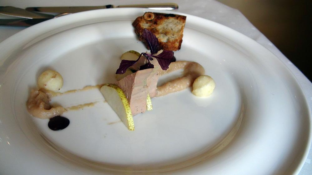 """Foie gras d'oie maison, """"Belle-Hélène"""""""