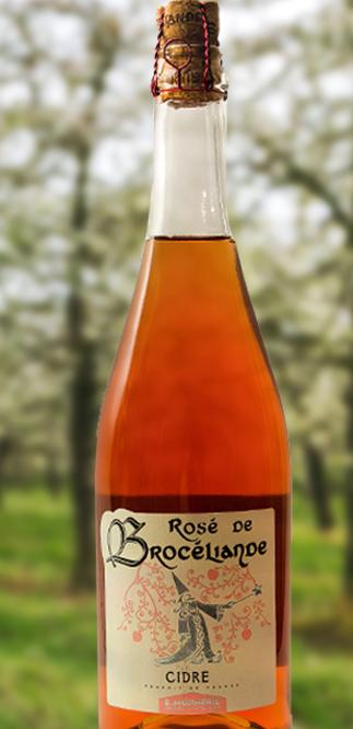Bouteille de Cidre rosé de Brocéliande offerte par Baptiste Denieul - Crédit photo : http://cidre-breton.com