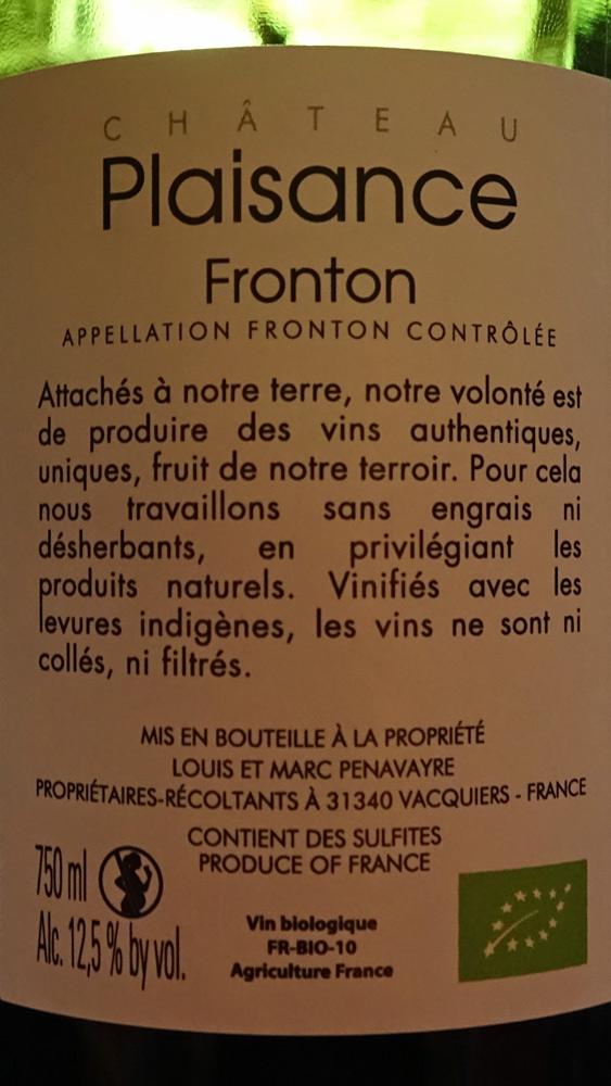 Le Fronton, étiquette recto