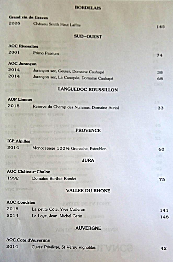 Vins blancs (Beaujolais - Sud-Ouest - Provence - Jura ...)