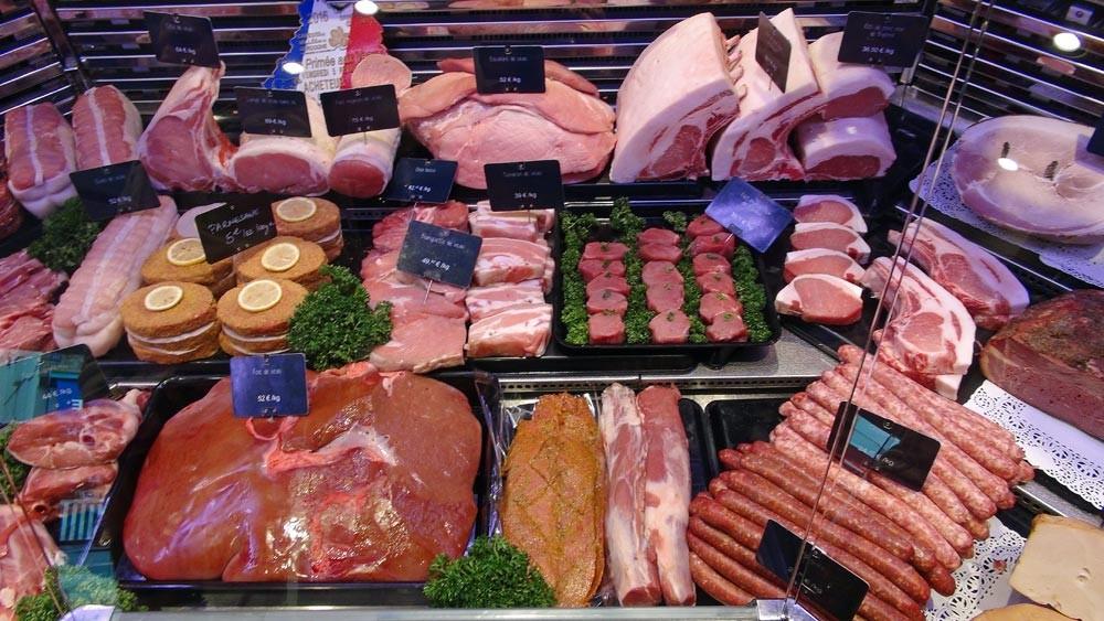 Viandes de veau et de porc, abats ...