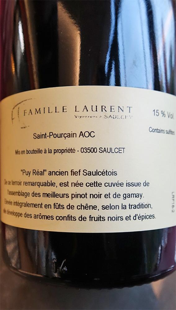 Etiquette du Saint-Pourçain rouge