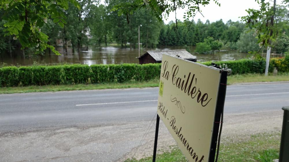 Vue du débordement du Beuvron depuis l'Auberge de la Caillère
